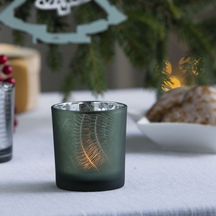 Christmas  tea light holder Solavia Fine Glassware