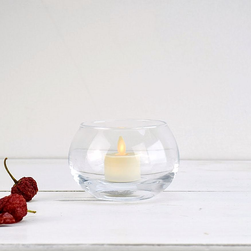 2 Tea Light Candle Holders | Solavia Fine Glassware