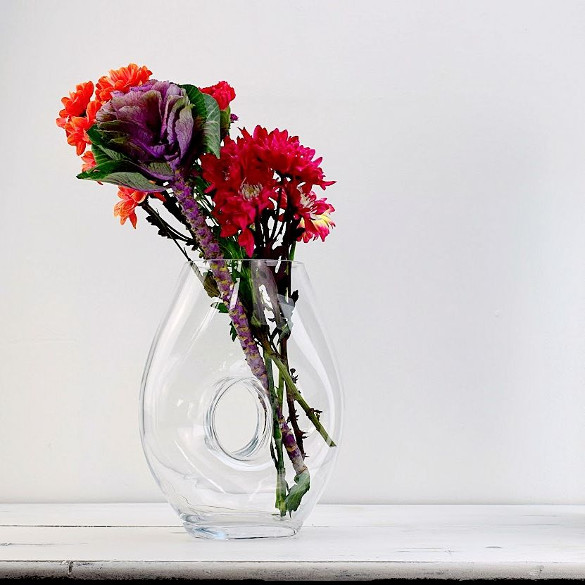 Vase & Crafted Hole 30cm | Solavia Fine Glassware