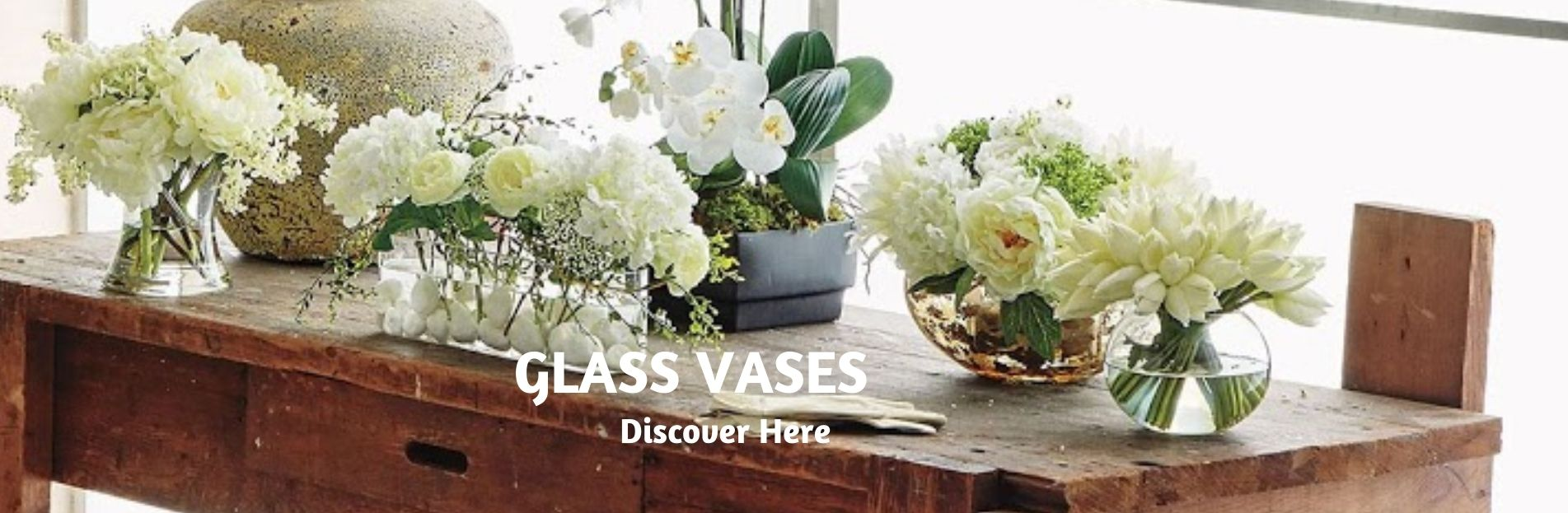 clear glass vases for table arrangements and for gifts