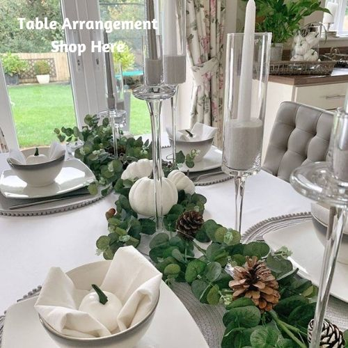 candle holders and candlesticks for Christmas and Autumn table arrangement